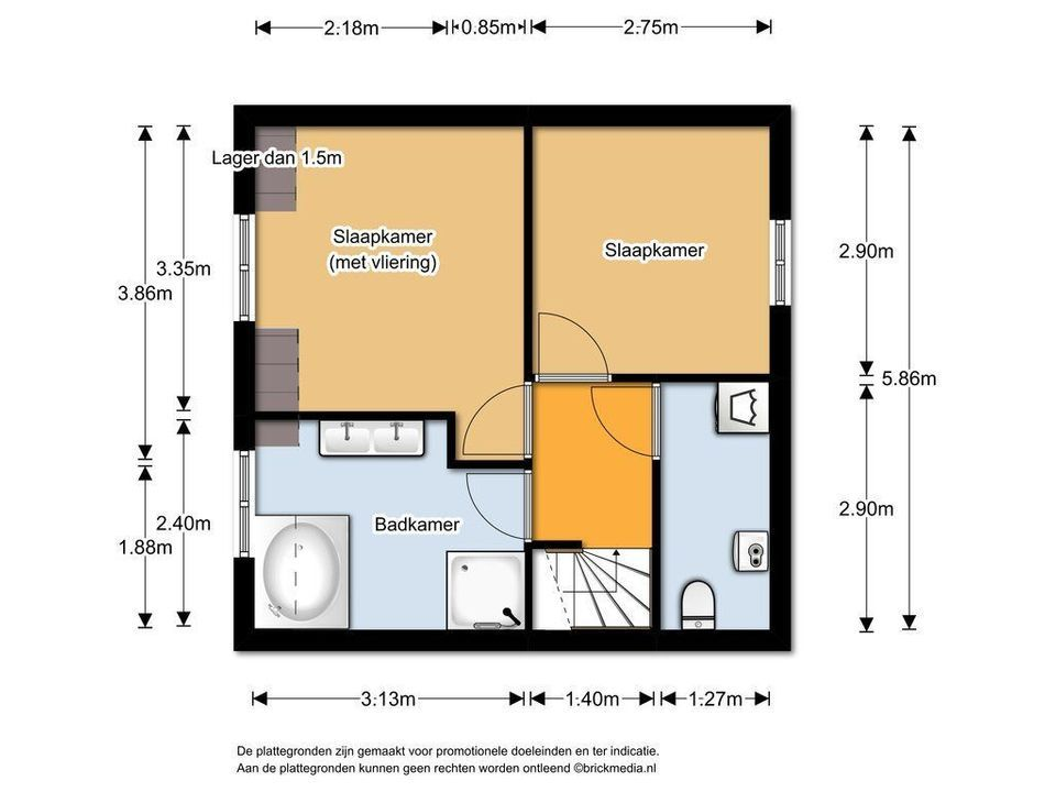 Molslaan 2 A, Delft plattegrond-2