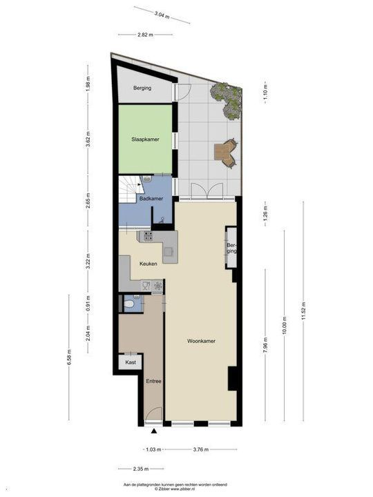Julianalaan 1, Delft plattegrond-0