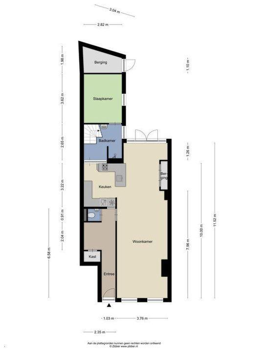Julianalaan 1, Delft plattegrond-2