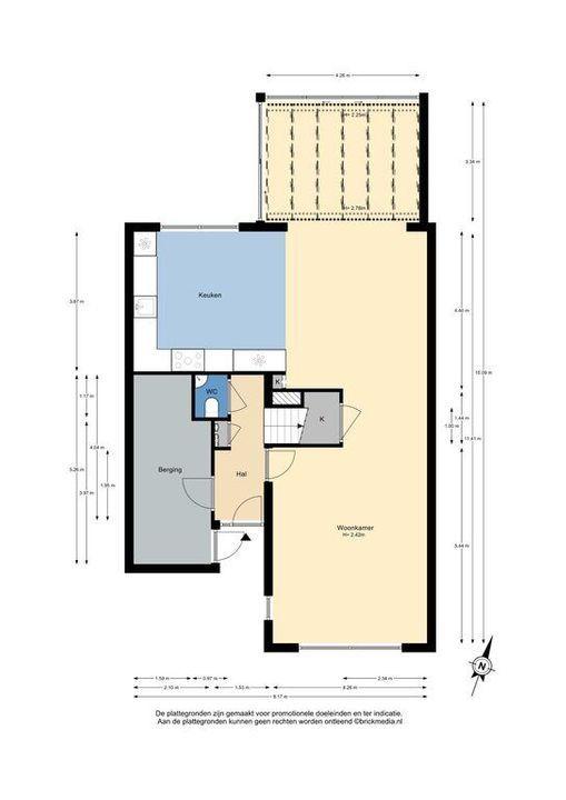 Burgemeestersrand 39, Delft plattegrond-0