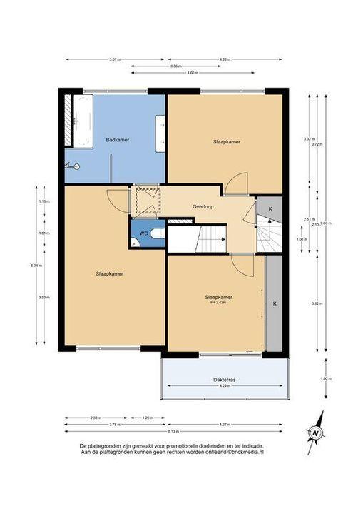 Burgemeestersrand 39, Delft plattegrond-1