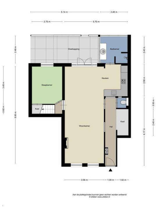 Cornelis Trompstraat 40, Delft plattegrond-0