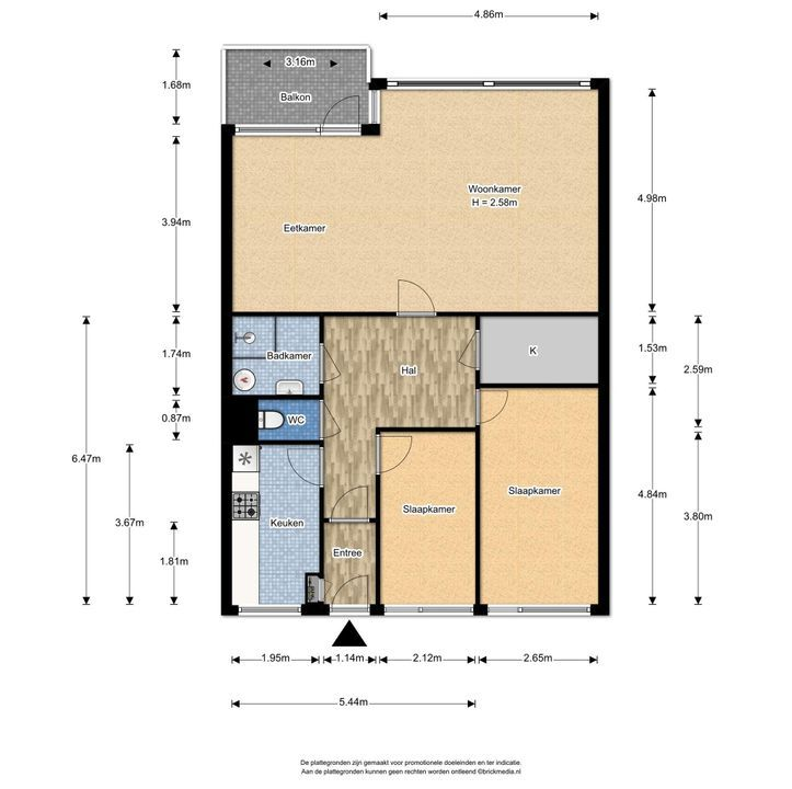 Papsouwselaan 255, Delft plattegrond-0