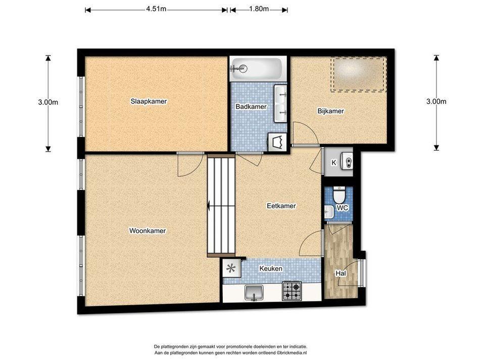 Kromstraat 28 G, Delft plattegrond-0