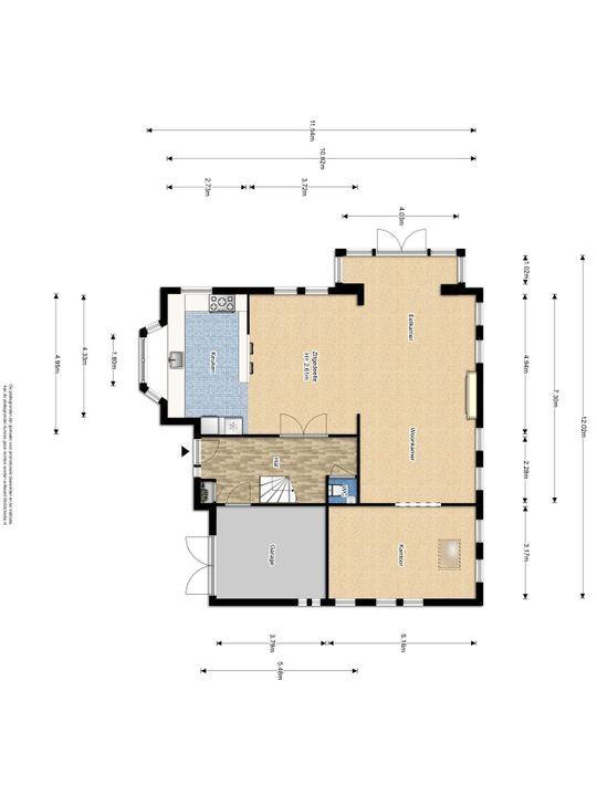 Buitenwatersloot 325 C., Delft plattegrond-1
