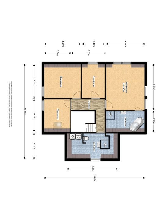 Buitenwatersloot 325 C., Delft plattegrond-2