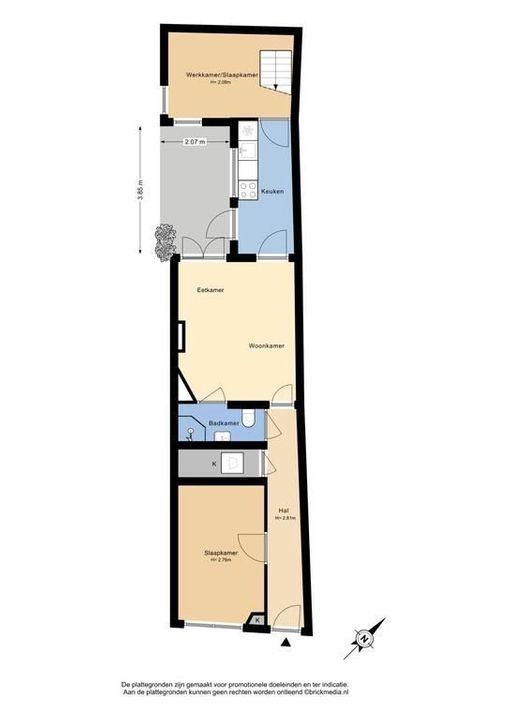 Nieuwe Langendijk 94, Delft plattegrond-0