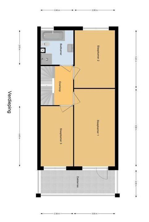 Van Veendijk 21, Den Haag plattegrond-1