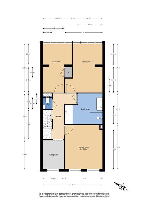 Oostsingel 111, Delft plattegrond-1
