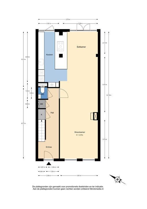 Oostsingel 111, Delft plattegrond-0