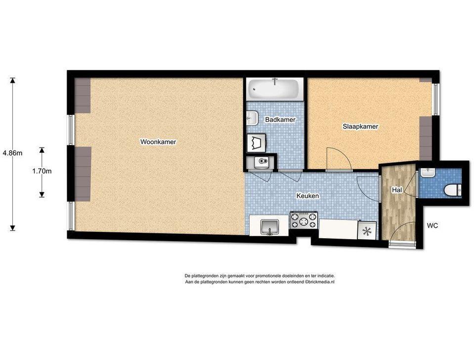 Kromstraat 28 L, Delft plattegrond-0