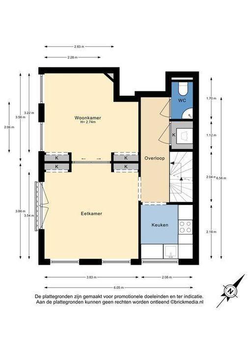 Ternatestraat 117, Delft plattegrond-1