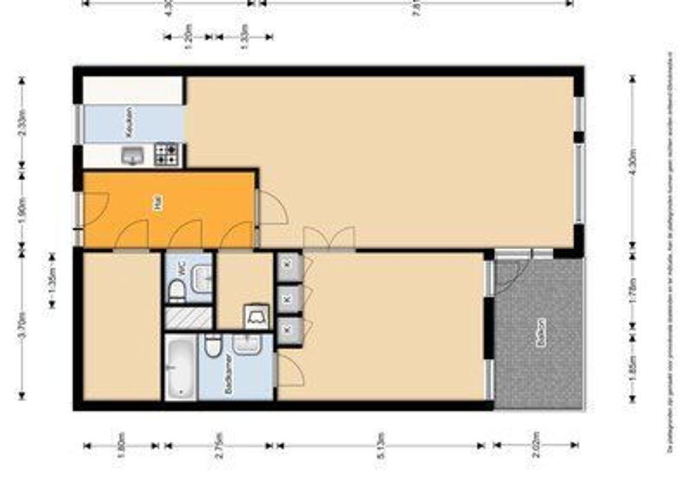 Vestpoort 21, Delft plattegrond-0