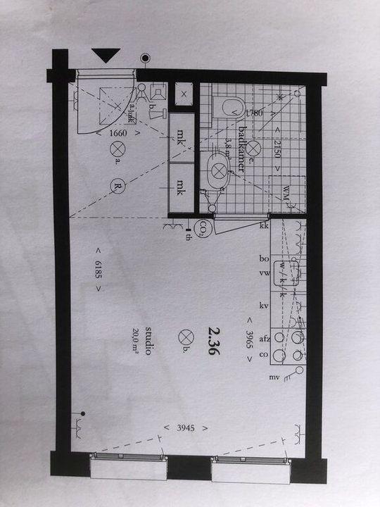 Nieuwe Gracht 15, Delft plattegrond-0