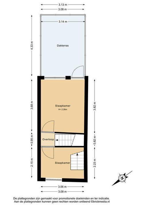 Westerstraat 75, Delft plattegrond-1