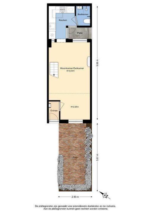 Westerstraat 14, Delft plattegrond-2