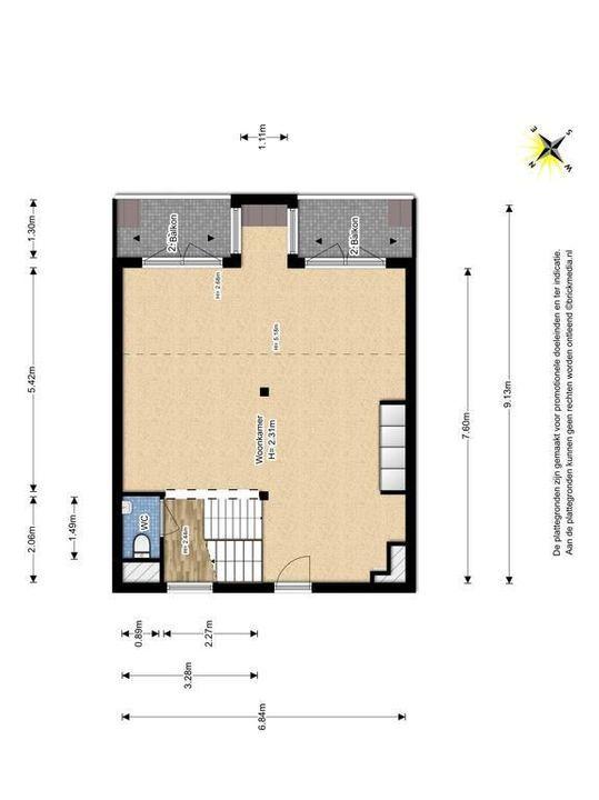 Raam 176, Delft plattegrond-1