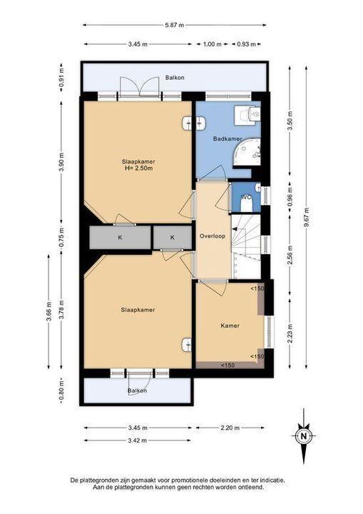 Botaniestraat 8, Delft plattegrond-1