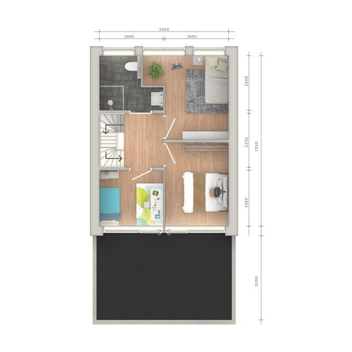 Prins Mauritsstraat 1 b, Delft plattegrond-1