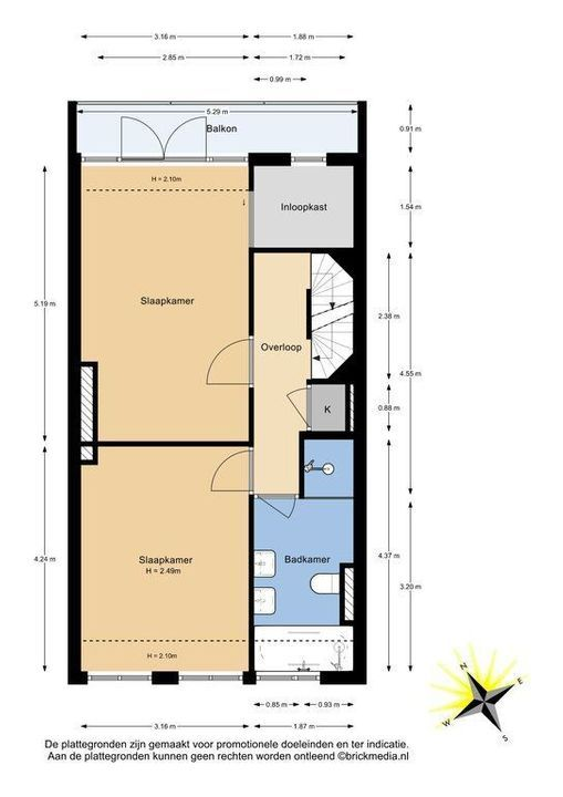 Oostsingel 31, Delft plattegrond-1