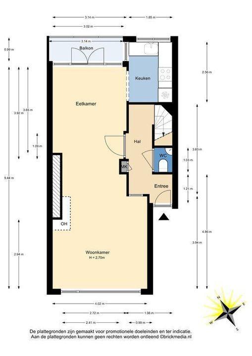 Oostsingel 31, Delft plattegrond-0
