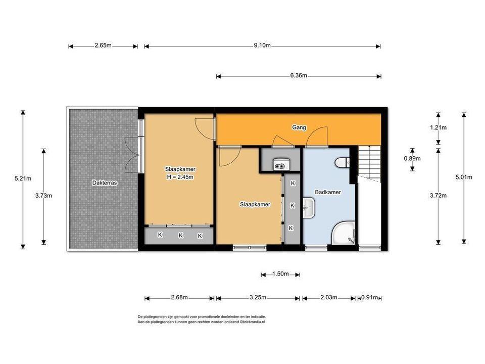 Spiegelmakerstraat 9, Delfgauw plattegrond-1