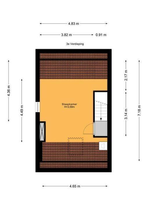 Noordeinde 76, Delft plattegrond-1