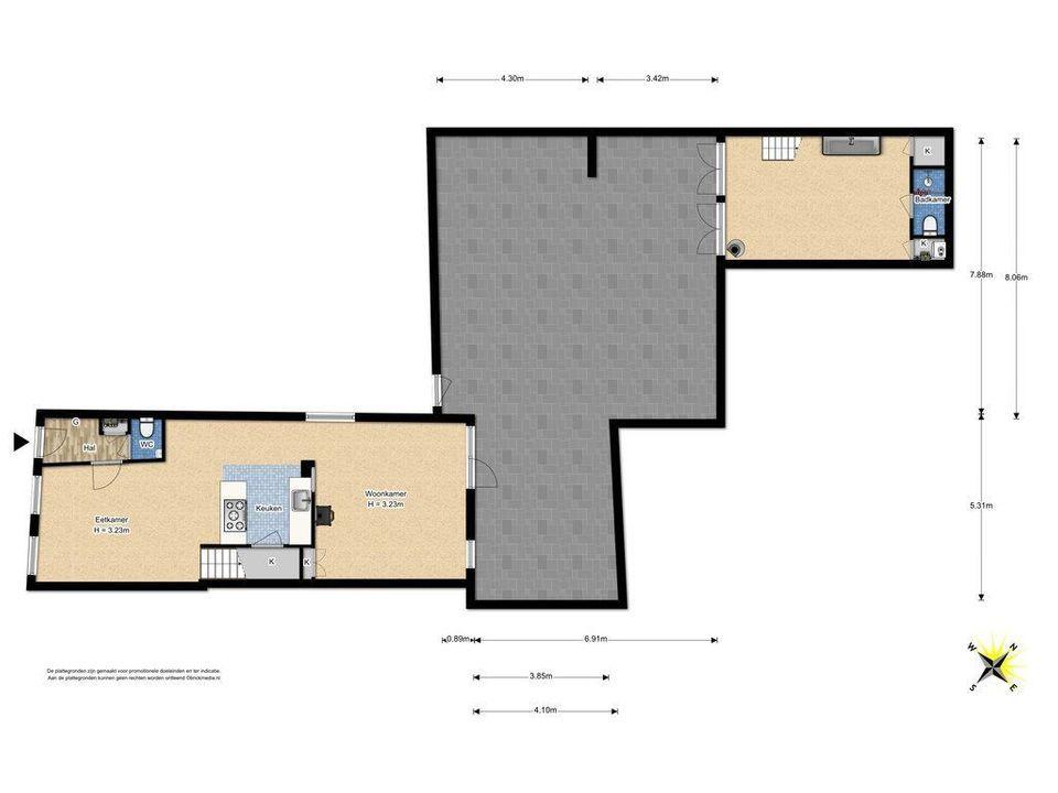 Papenstraat 16, Delft plattegrond-4