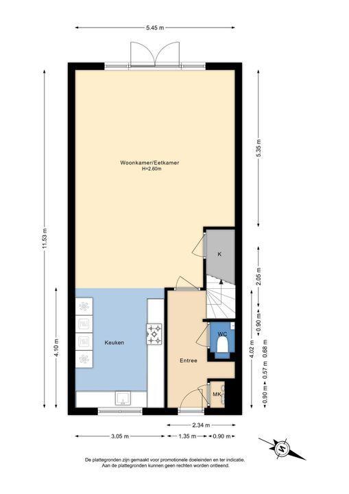 Van der Endetuinen 1, Delft plattegrond-2