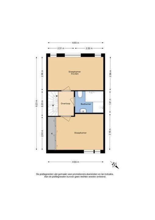 Roodborstlaan 24, Delft plattegrond-1