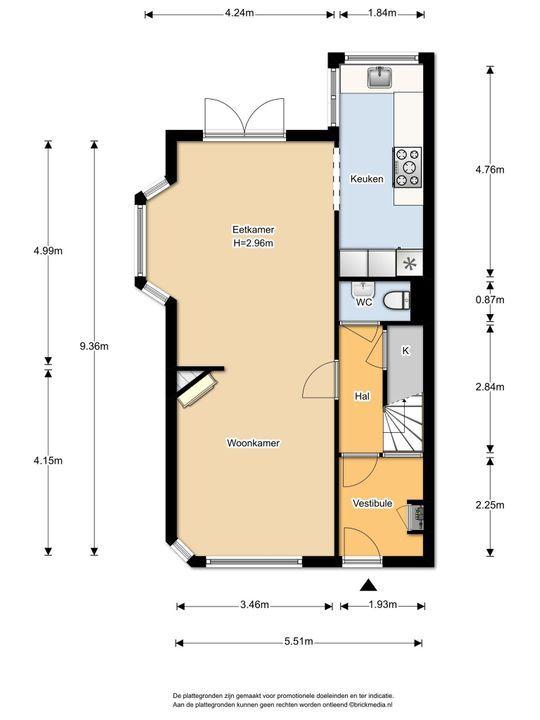 Delfgauwseweg 217, Delft plattegrond-1