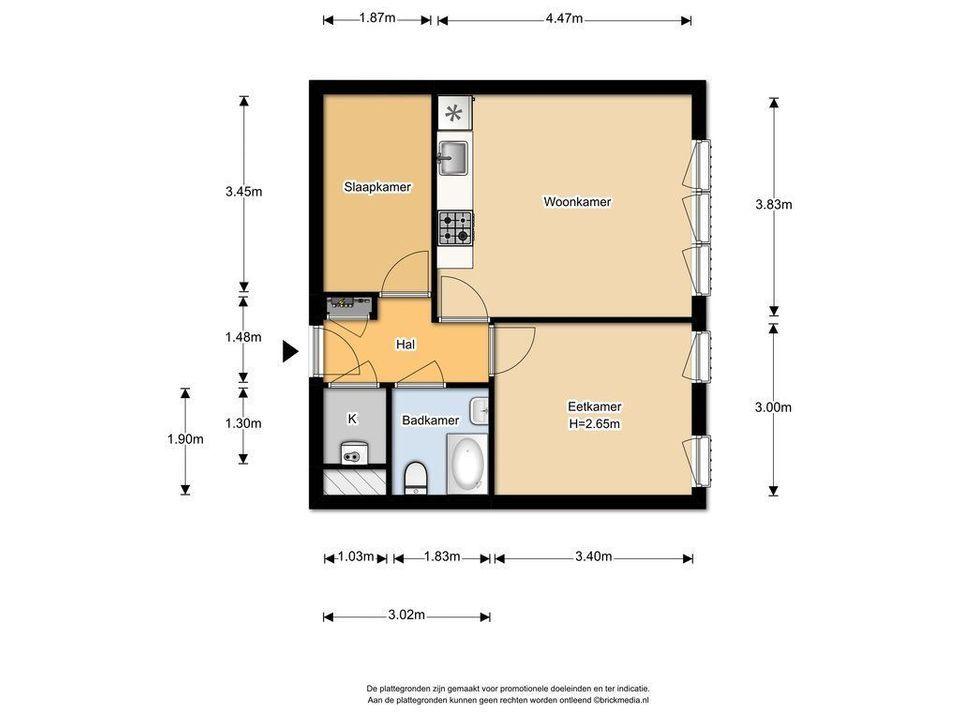Charlotte de Bourbonstraat 49, Delft plattegrond-0