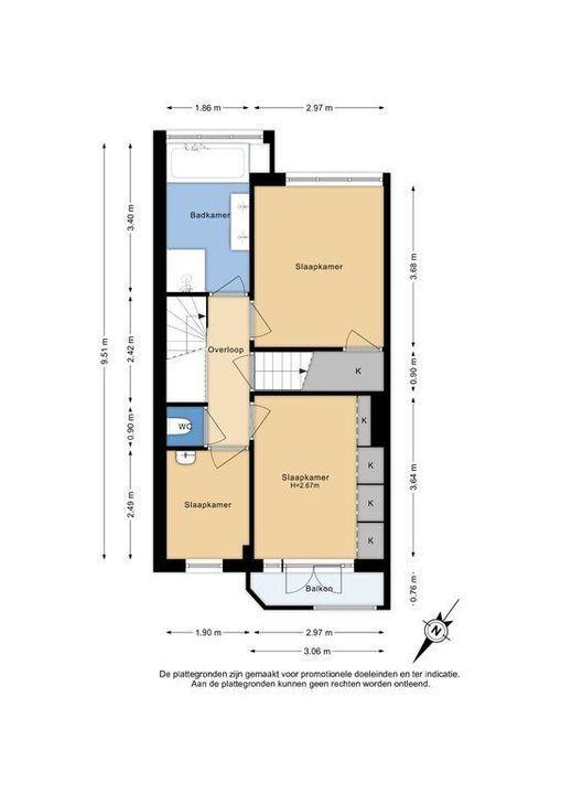 C. Fockstraat 3, Delft plattegrond-1