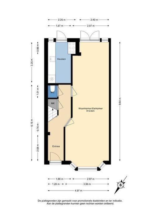 C. Fockstraat 3, Delft plattegrond-0