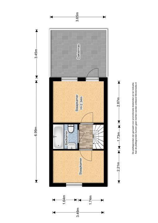 Hovenierstraat 18, Delft plattegrond-2