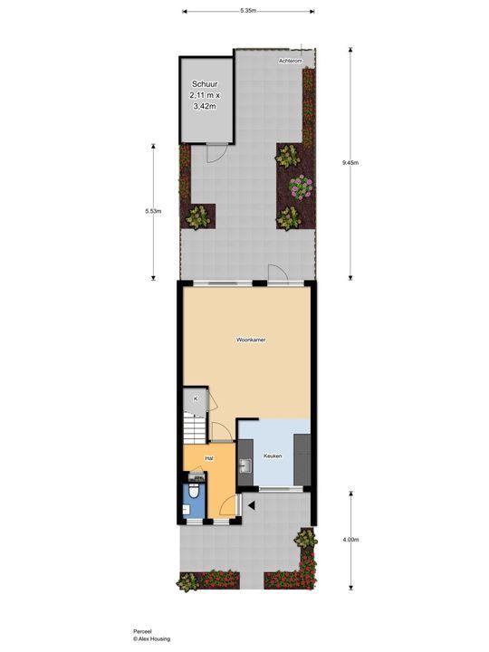 Egelsingel 44, Delft plattegrond-0