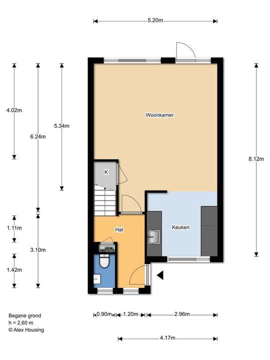 Egelsingel 44, Delft plattegrond-1