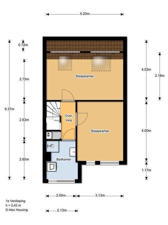 Egelsingel 44, Delft plattegrond-2