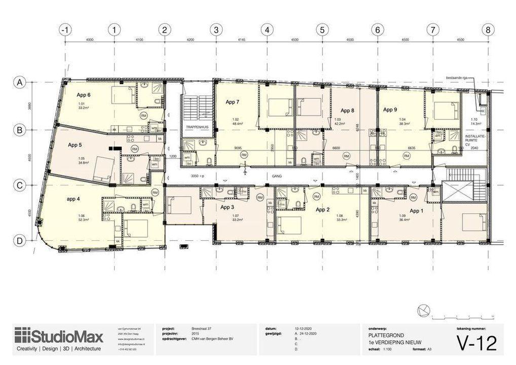 Breestraat 35 D, Delft plattegrond-0