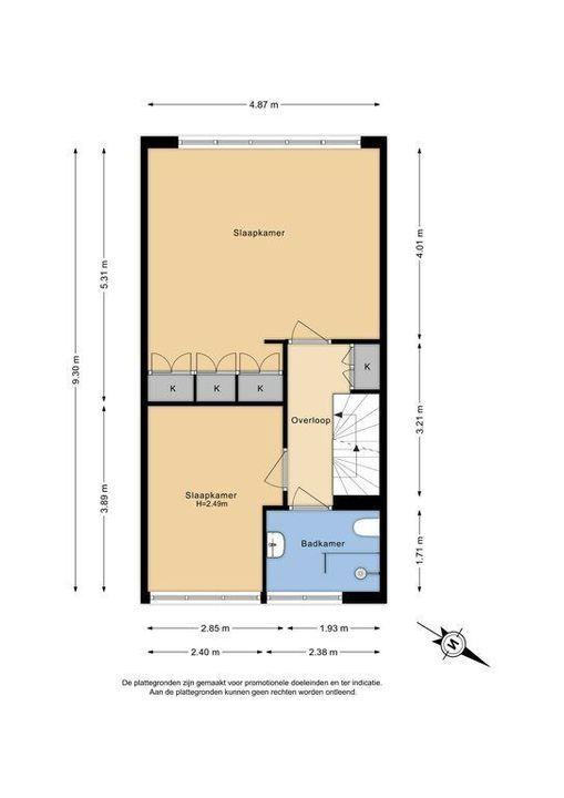 Azielaan 234, Delft plattegrond-1