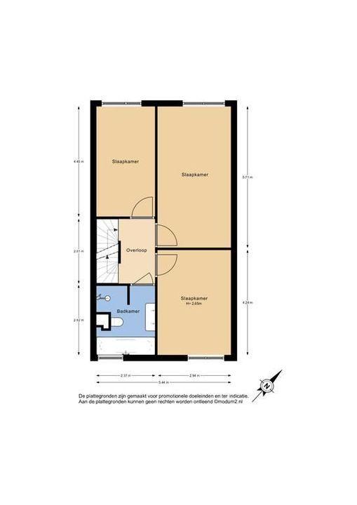 Van Veendijk 19, Den Haag plattegrond-1