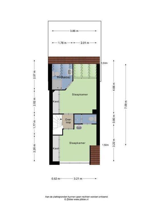 Oosterstraat 55, Delft plattegrond-1