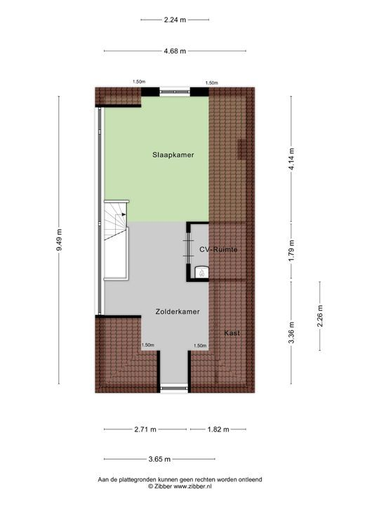 Raamstraat 15, Delft plattegrond-4