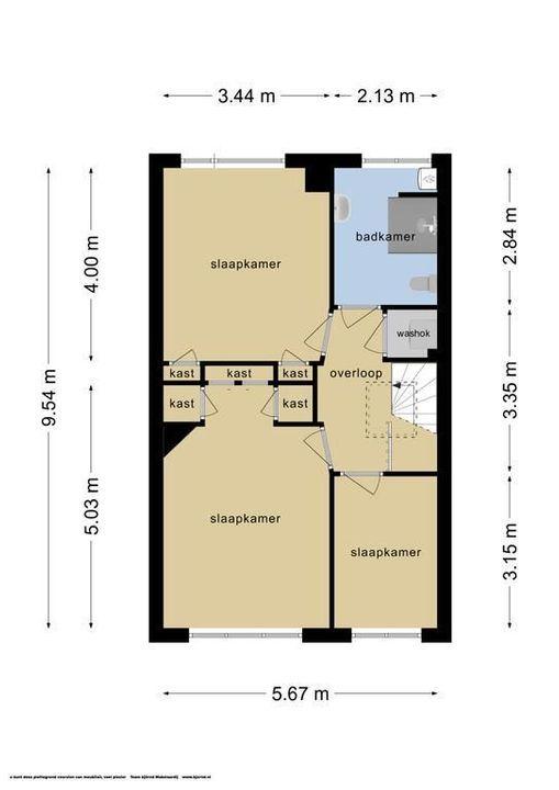 Oostplantsoen 135, Delft plattegrond-1