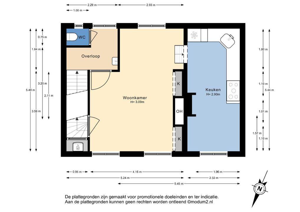 Kantoorgracht 1, Delft plattegrond-0