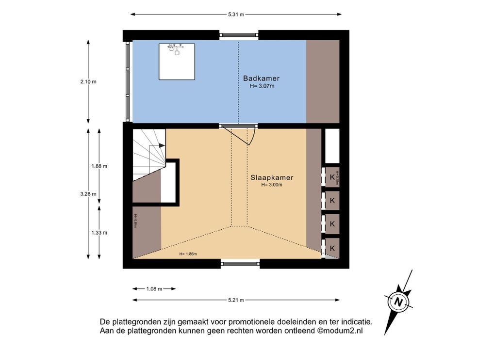 Kantoorgracht 1, Delft plattegrond-1