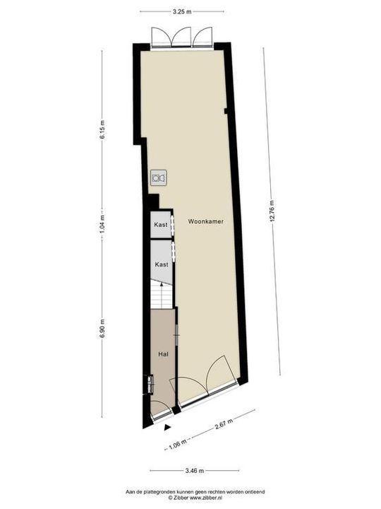 Oosteinde 134 134 a, Delft plattegrond-0