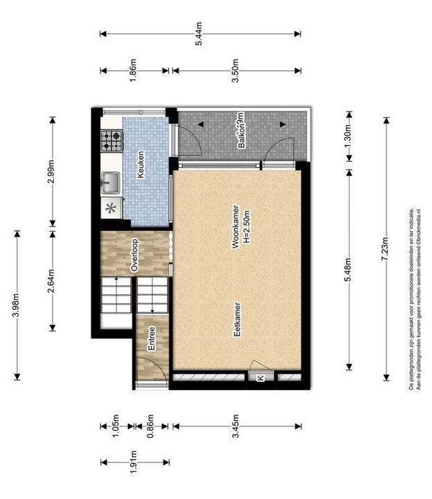 Jacoba van Beierenlaan 187, Delft plattegrond-0
