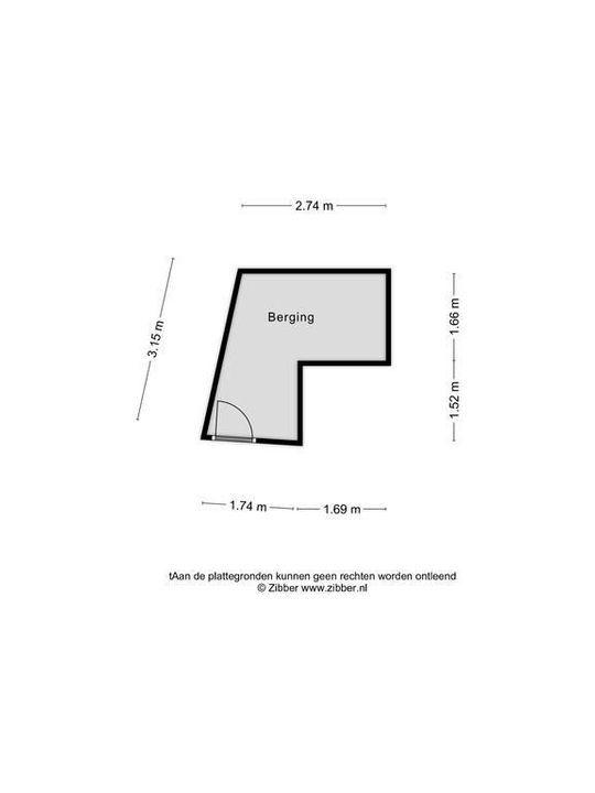 Zuidwal 10, Delft plattegrond-1