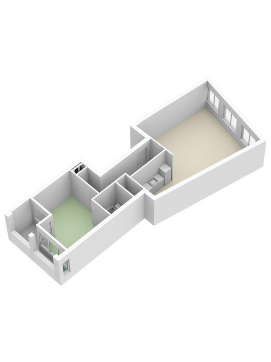 Zuidwal 10, Delft plattegrond-2